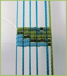 Beads Beading Beaded, with Erin Simonetti: Using thick Thread or Cord for the Warps