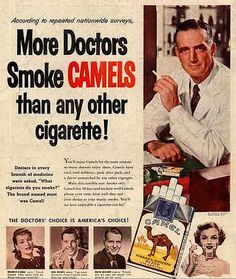 Please smoke Camels, for your health!