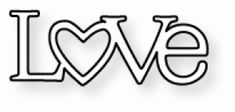 """PTI - Wonderful Words: Love Die - $3 -   Dimensions: 2 1/2"""" x 1 7/8""""    Coordinates with:  Wonderful Words: Love Mini Stamp Set  - bjl"""