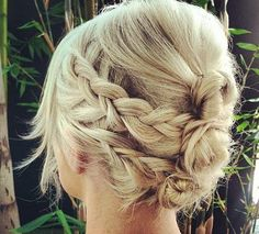 Blonde Updos for Prom with Braids Photos