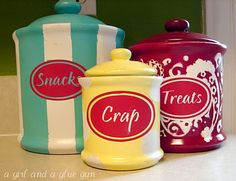 canisters, giggly gumdrops, and cricut love…not necessarily in that order.