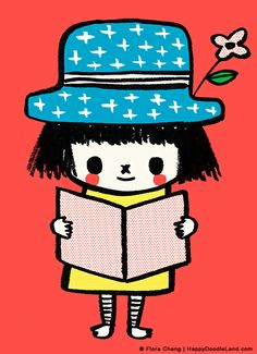 Reading is good! | flora chang | Happy Doodle Land