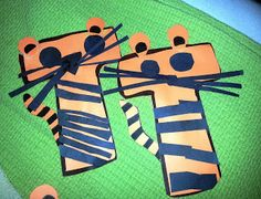 Letter T - tigers