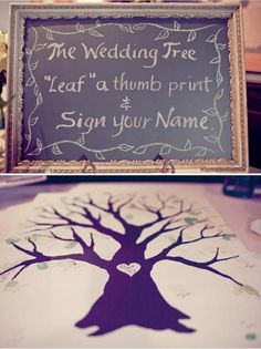 Tree Guestbook- on a plate?