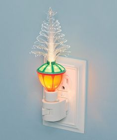 Look at this 7'' Fiber Optic Christmas Tree Night Light on #zulily today!