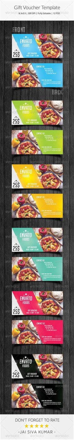 22+ Best Free Gift Voucher Templates In PSD http\/\/www - food voucher template