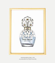 Illustration, Digitaldruck, Poster, Print, Kunstdruck: Marc Jacobs Parfüm…