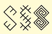 Zalciai - Lithuanian folk symbols.  #pagan #Baltic