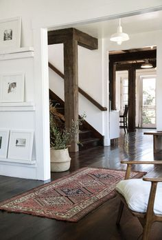 Beautiful details and I must have wood beams in the future. They add so much texture and character.