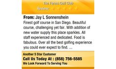 Finest golf course in San Diego. Beautiful course, challenging yet fair. With addition of...