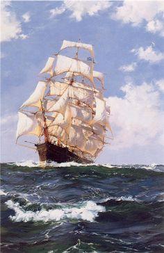 Montague Dawson Qué hermoso barco. Me encanta los barcos de vela
