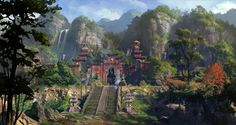ArtStation - China Taoist temple1, Dawn Pu