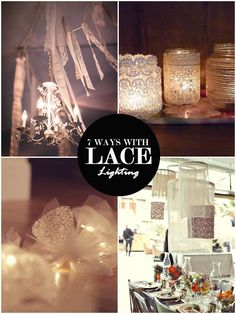 7 WEDDING WONDERFUL WAYS WITH LACE (AND 28 IDEAS TO GET STARTED) #PaperandLace
