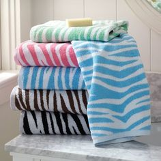Name Dashing Towel Shower Towel Bath Towel Cotton Embroidered Embroidery Zebra Bath