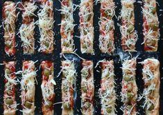 Recette de PIZZAS APERO DINATOIRE RECTANGULAIRES | Guy Demarle Mozarella, Brunch, Sushi, Ethnic Recipes, Index, Food, Greedy People, Bon Appetit, Essen