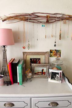 DIY Jewelry Branch Display