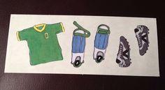 CREATIVE MEMORIES STICKERS: SOCCER SHIRT SHIN GUARDS CLEATS #CreativeMemories