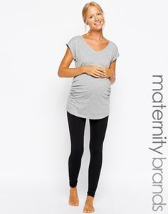 Image 1 of New Look Maternity Seam Free Legging Baby Bump Style, Mommy Style, Pregnancy Wardrobe, Pregnancy Outfits, Asos Maternity, Maternity Fashion, Maternity Leggings Outfit, Maternity Outfits, Maternity Style