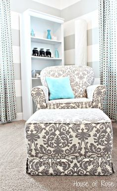 LOVE the chair and aqua color!