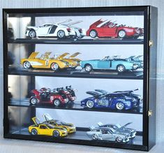 Holds 8 / 1:18 Scale Diecast Model Car Display Case Cabinet - Lockable. 1:18 Scale Diecast Model Car Display Case Cabinet Wall Rack Box Holder. Very easy to install and mount. Hand made from imported Australia beachwood. | eBay!