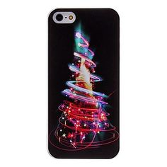 iPhone 5/5S - Christmas Tree Neon Lights OR Jolly Snowman Case
