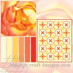 Colour Palette Yellow Rose by Stacey's Craft Designs Yellow Roses, Design Crafts, Palette, Colour, Quilts, Create, Art, Palette Table, Craft Art