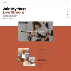 Live Stream Music Event Website | Website Template
