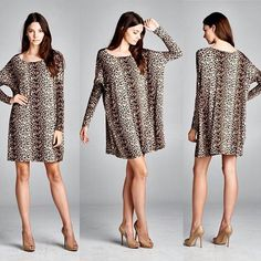 D4473 Boxy fit long sleeve round neck knee-length dress. This dress is made with heavy weight rayon spandex jersey with leopard print. The fabric is soft and drapes well on the body. #cherishusa #cherishapparel #shopcherish #fallfashion #fashionbuyer #boutique #fashion #fashiondiaries #instafashion #instastyle #fashionstyle #ootd #fashionable #fashiongram #fallstyle #clothingbrand #fall2015 #leopardprint #animalprint #dress #dresses #tunic #dolman #tunicdress http://bit.ly/cherish-D4473