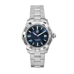 TAG Heuer Men's WAP1112.BA0831 Aquaracer Stainless Steel Blue Dial Watch from TAG Heuer @ TAG-Heuer-Watches .com