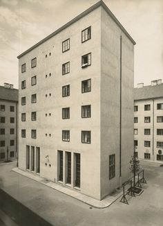 Josef Hoffmann, Klose-Hof, Wien 1925 Photo Julius Scherb/Landesmuseum Oldenburg