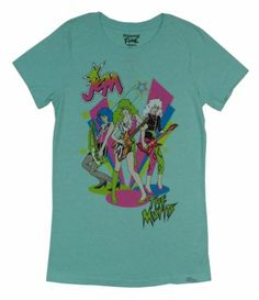 8e7694ac0af6 Jem and The Holograms The Misfits Licensed Junior Shirt s XL