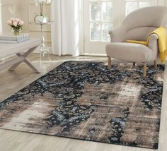 The traditional and modern designs with a washed vintage look of the Genesis collection come together to give a really natural, vintage look to your home. Living Room Modern, Rugs In Living Room, Living Spaces, Brown Rug, Brown And Grey, Turkey Colors, Home Decor Bedding, Room Lights, Rugs Online