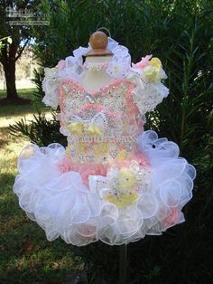 2013 White Colorful Short Sleeves Cute Little Girls Cupcake Pageant Flower Girl Party Dresses TU466