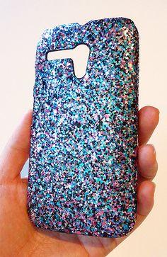 For Motorola Moto G MultiColor Specks Sequin Phone Case For Motorola Moto G by Yunikuna