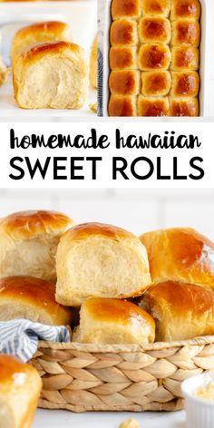 Hawaiian Bread Rolls, Hawaiian Sweet Breads, Hawaiian Sweet Rolls, Easy Hawaiian Rolls Recipe, Homemade Hawaiian Bread Recipe, Hawiian Rolls, Hawaiian Food Recipes, Hawaiian Buns, Sweet Dinner Rolls