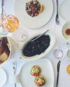 Aperol  Octopus salad  Shrimp bruschetta  Mussels  Ocean view  Thanks for a lovely lunch @zori.restaurant #croatia #lunch