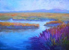 Marsh Painting Daily Painting Small Oil by CarolSchiffStudio
