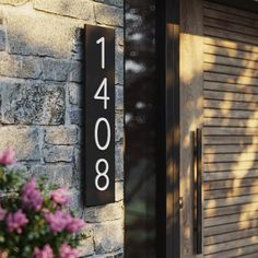 House numbers   vertical and horizontal house numbers   house number plaques   address plaque   Address number   modern house number sign