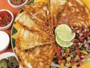 Quesadilla - yum! :)  Something to look forward to on the Intrepid travel's Real Food adventures.