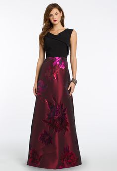 Fitted bodice long dress
