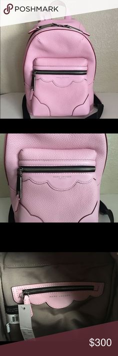 Marc Jacobs Pink Leather Backpack Brand New 100% Authentic Marc Jacobs M0009634 Haze Pink Leather Backpack Bag Marc Jacobs Bags Backpacks