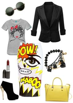 ba18a2fd07 Style Inspiration  Fall Pop Art Edgy Outfits