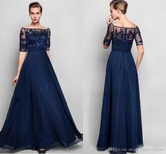 Inexpensive Custom Navy Blue Evening Dresses 2017 Half Sleeve Beaded Chiffon Formal Mother Of The Bride Dresses Hy1091 Mother Mary Dress Mother Of Groom Dresses For Fall From Sexy_wedding_dresses, $89.45| Dhgate.Com