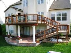 How To Build Tall Outdoor Stairs For A High 2nd Story Deck
