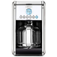 BELLA LINEA Collection 12 Cup Programmable Coffee Maker Polished Stainless Steel 14391 ** To view further for this item, visit the affiliate link Amazon.com.