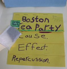 BOSTON TEA PARTY CAUSE/EFFECT STEP BOOK