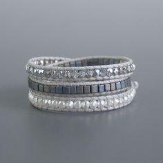 Gray wrapped bracelet アスファルトグレーのラップブレス♪