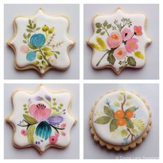 Beautiful hand painted sugar cookies by Cocoa Lane Sweeterie