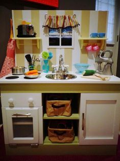 Reader Showcase: RTF Cottage Play Kitchen | The Design Confidential #diy #tdcshowcase #kids #play