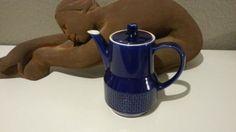 Alte-blauer-Melitta-Kaffeekanne-0-7l-Kanne-mit-Warmhalteboden-Kobaltblau